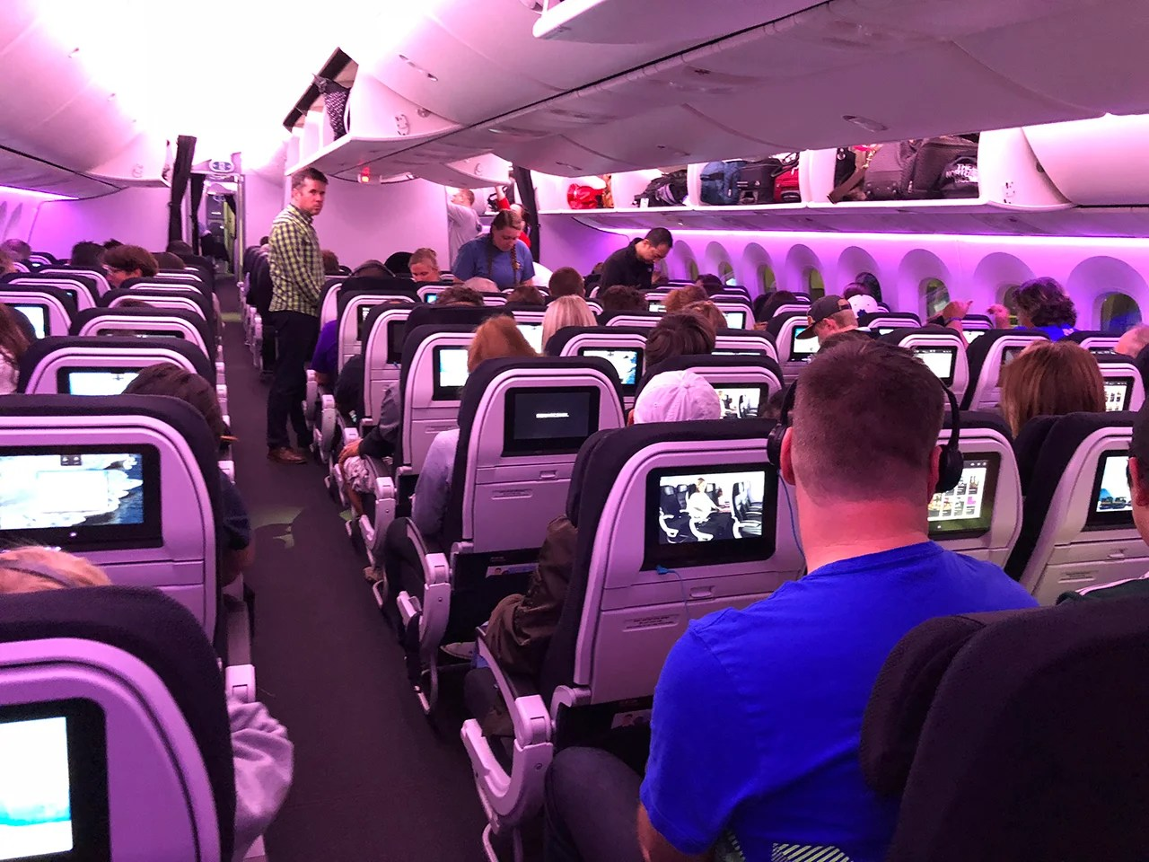 air new zealand auckland to houston review