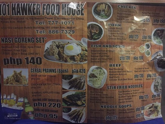 101 hawker food house review