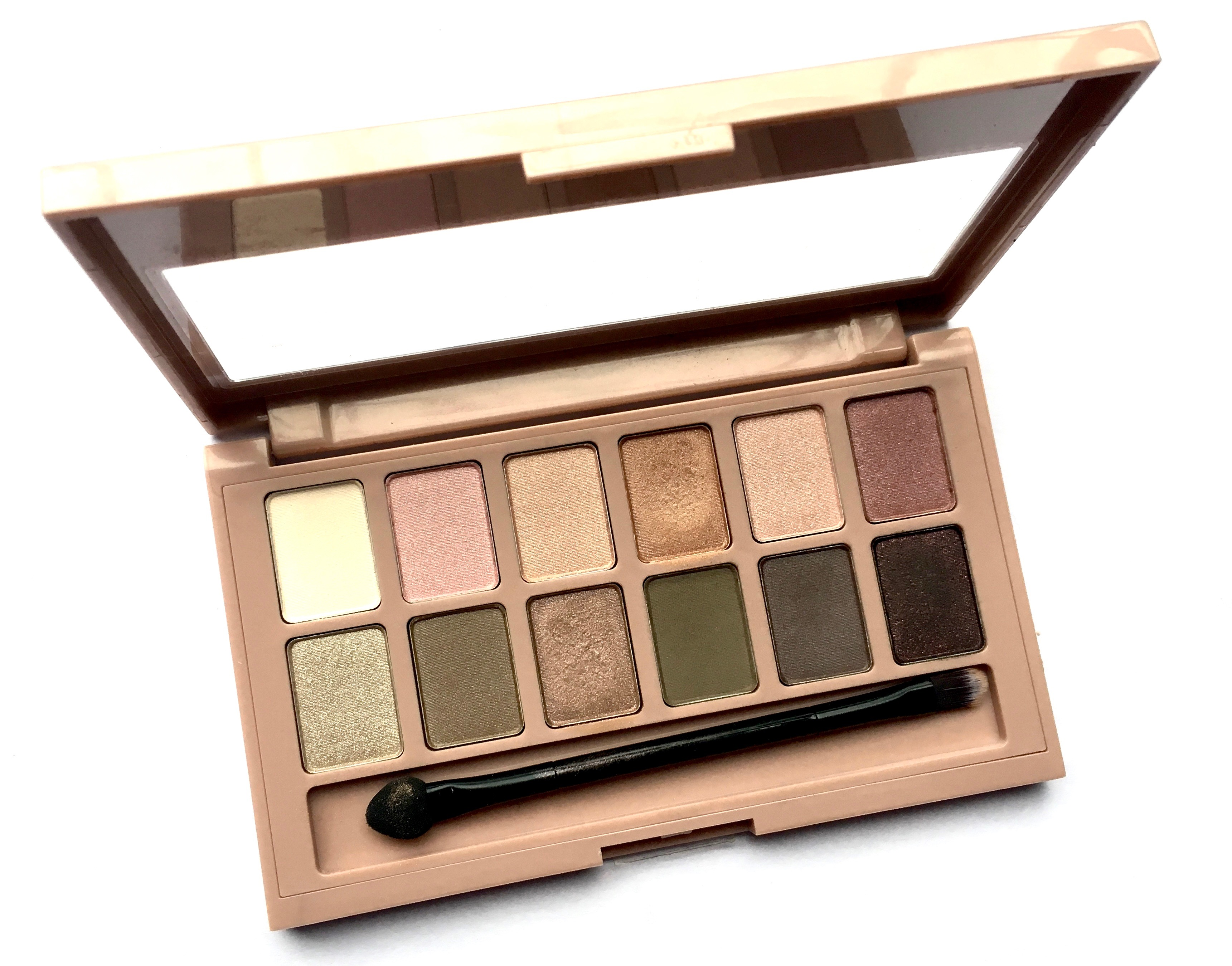maybelline blushed nudes palette review