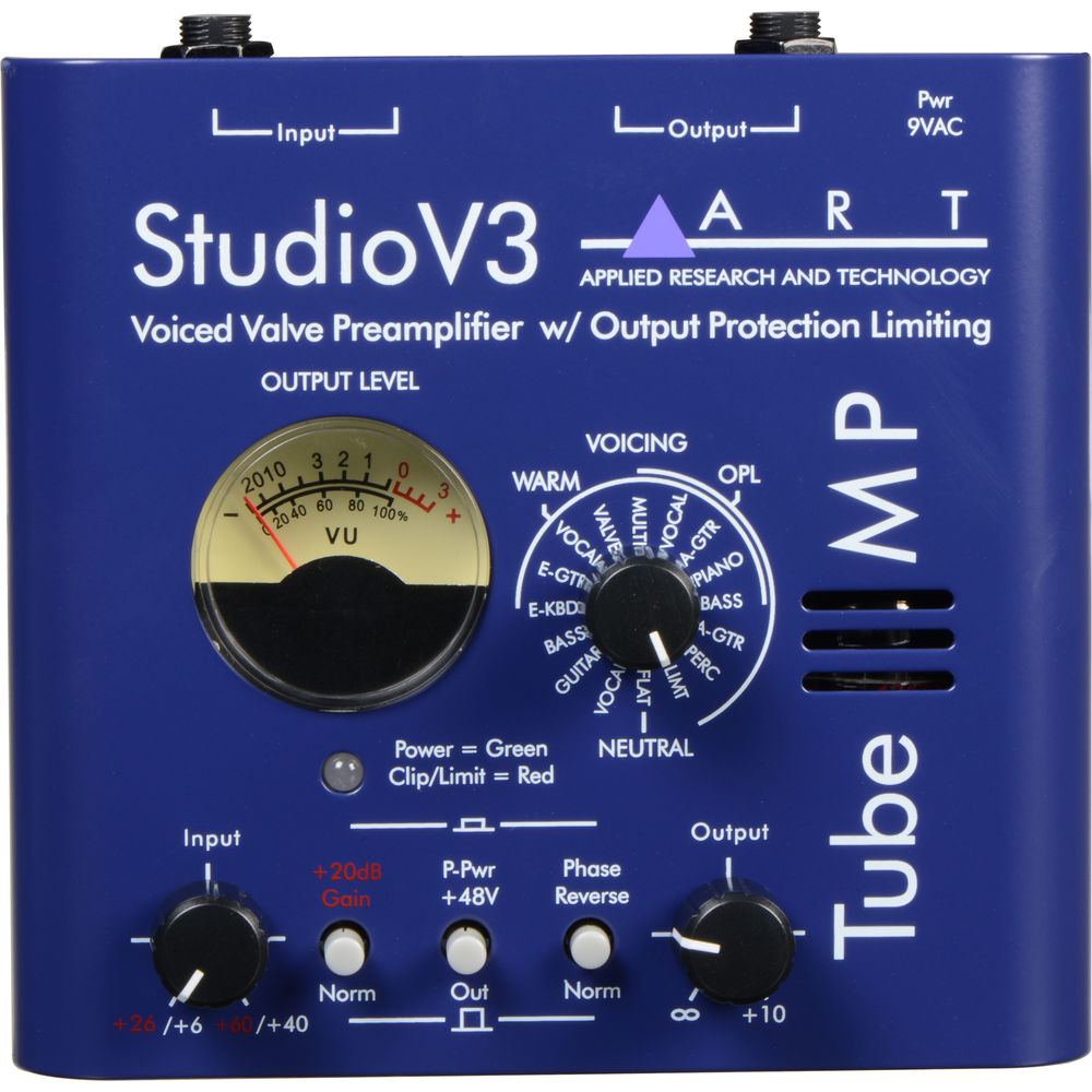 art tube mp studio mic preamp review