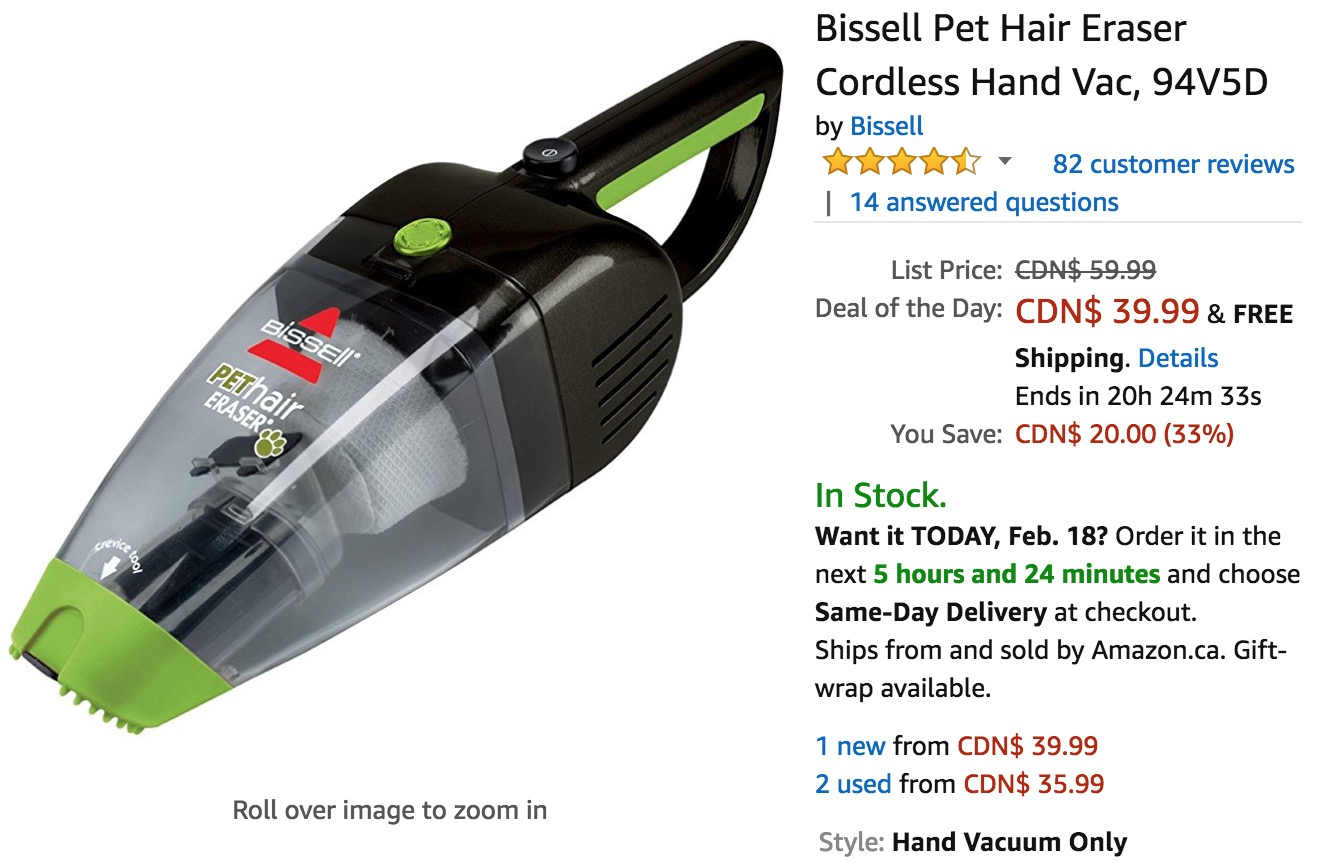bissell pet hair eraser hand vac reviews