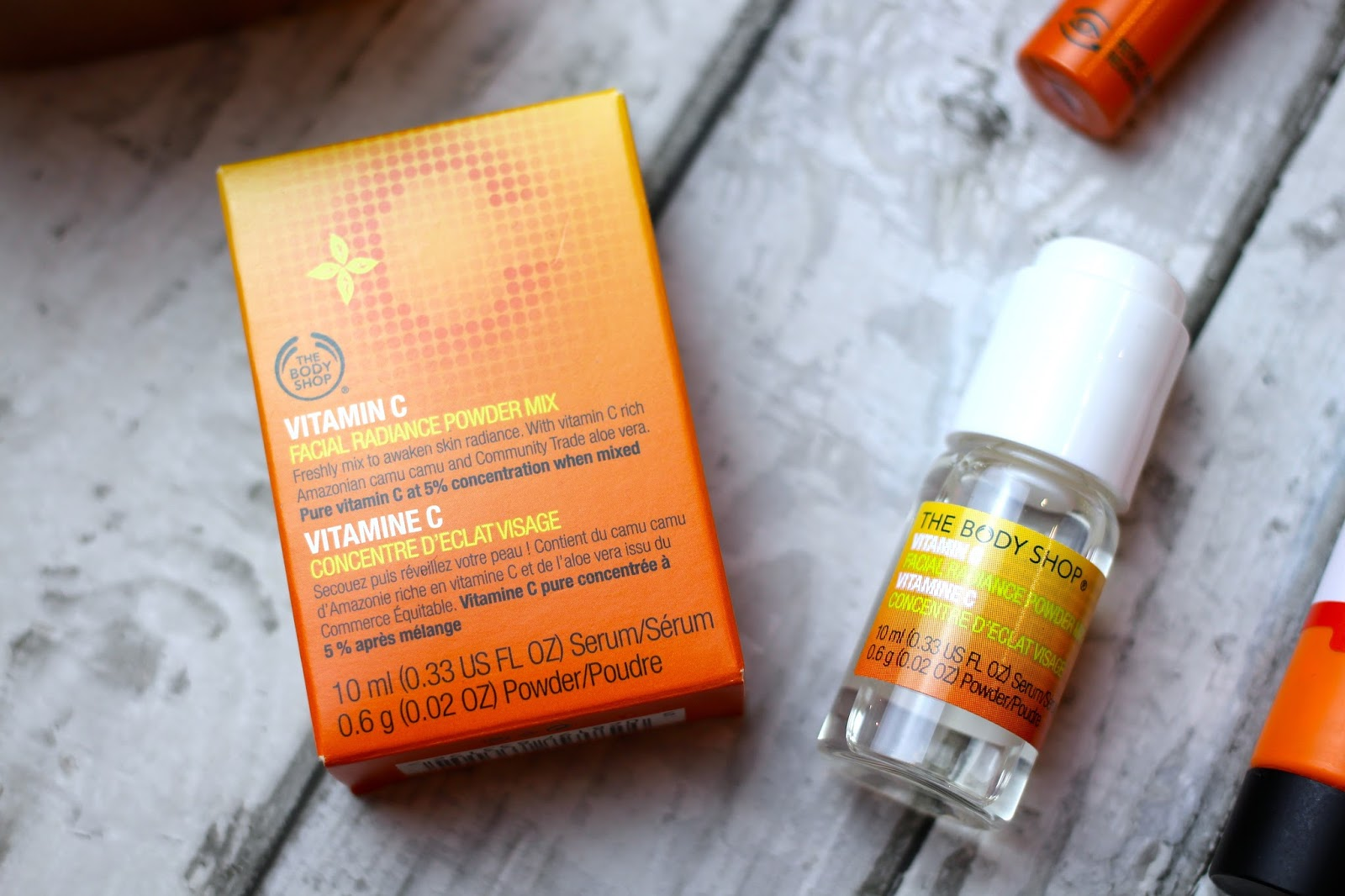 body shop vitamin c powder mix review