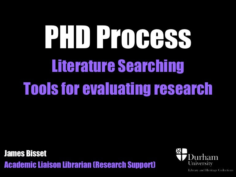 how to organise phd literature review