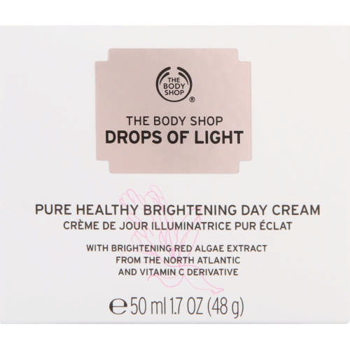 drops of light day cream body shop review