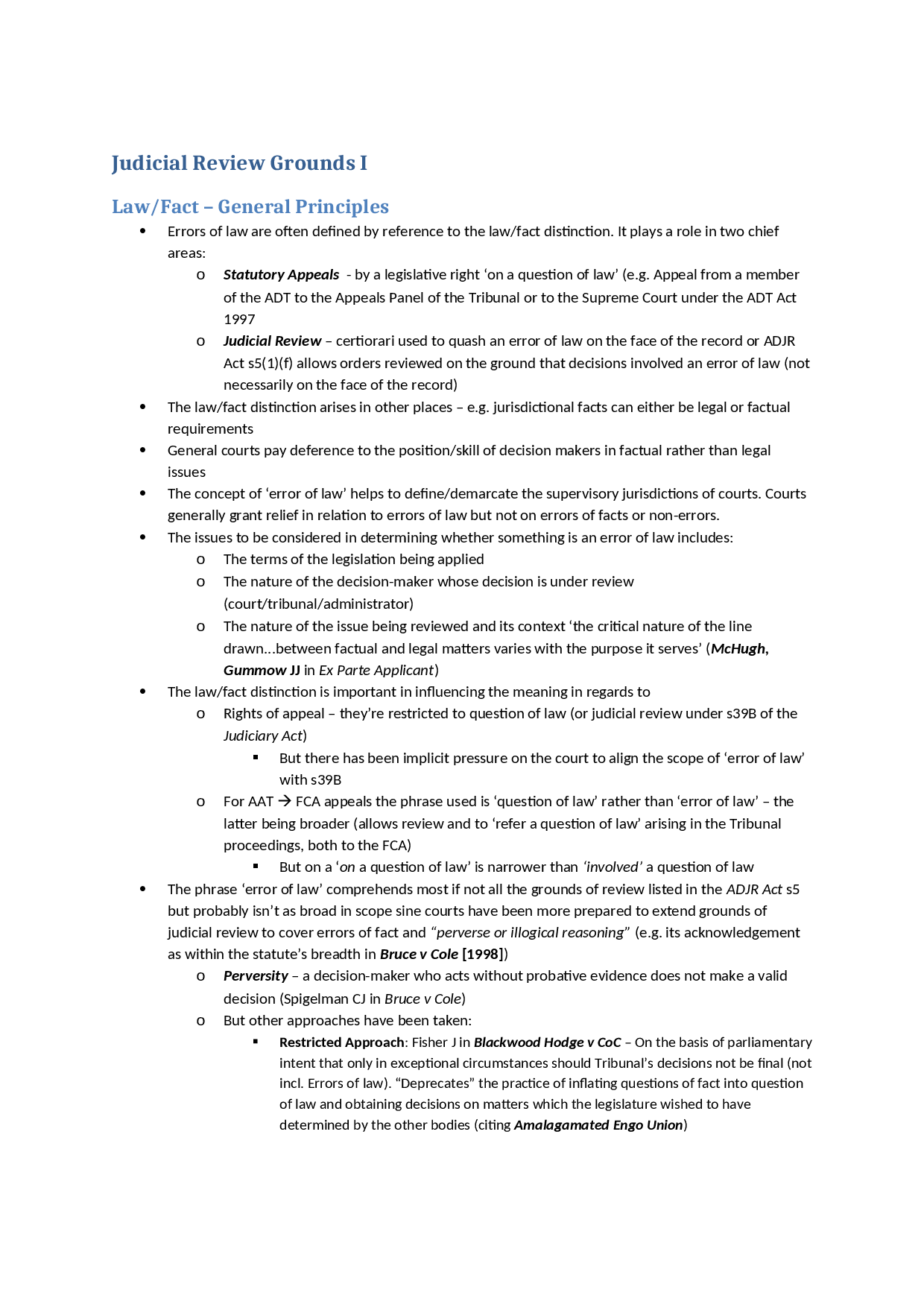 grounds for judicial review essay