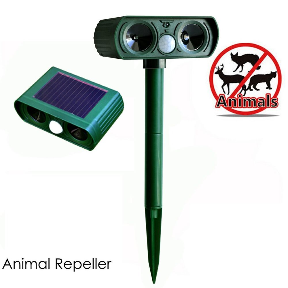 ultrasonic solar animal repeller reviews